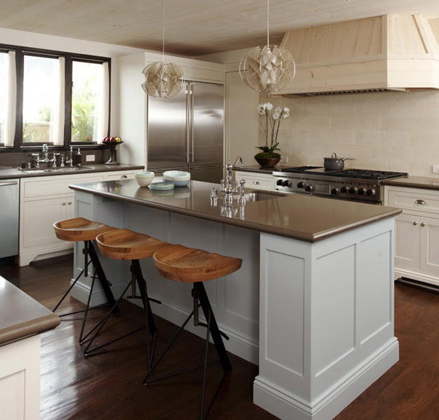Light Grey Kitchen Island - Contemporary - kitchen - Mark Cutler ...