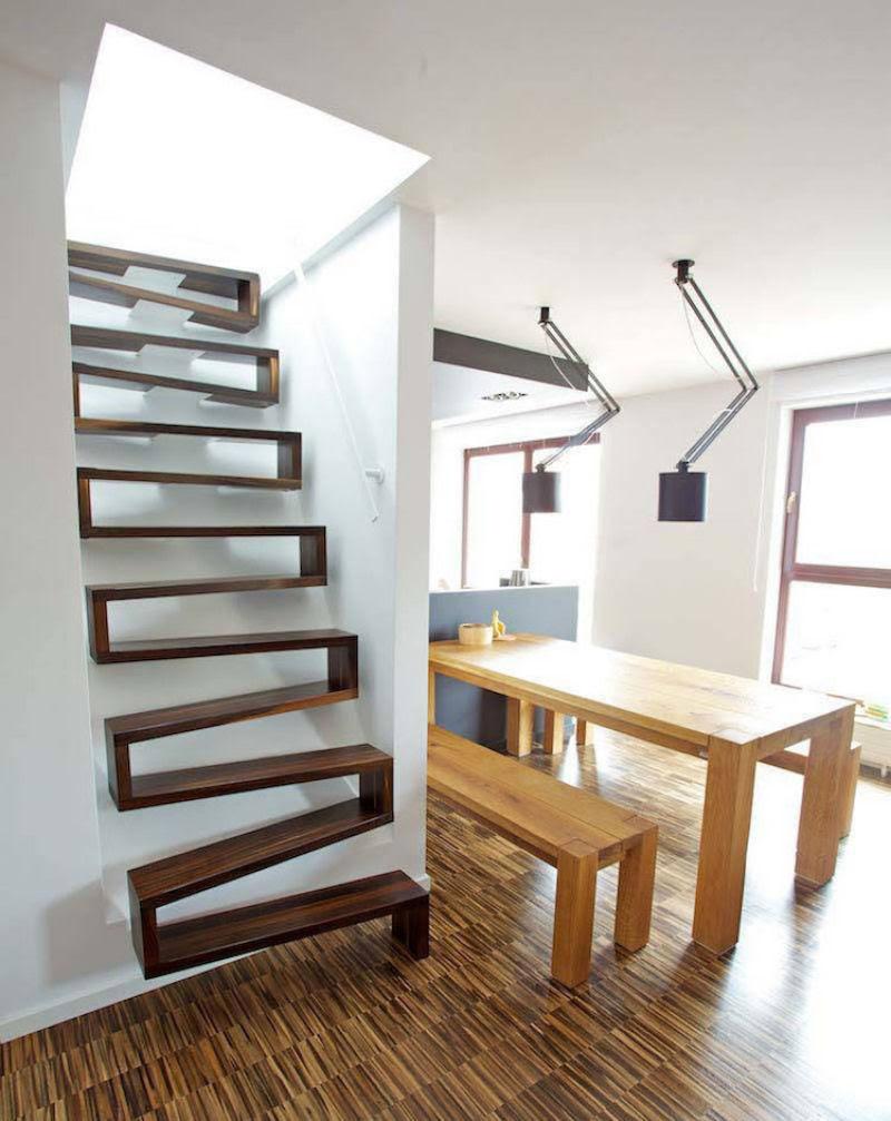Escadas incrivelmente projetadas que estão um degrau acima das demais 13