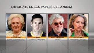 """Pilar de Borbó, Messi, Pedro Almodóvar i Micaela Domecq, entre els implicats a """"Els papers de Panamá"""""""