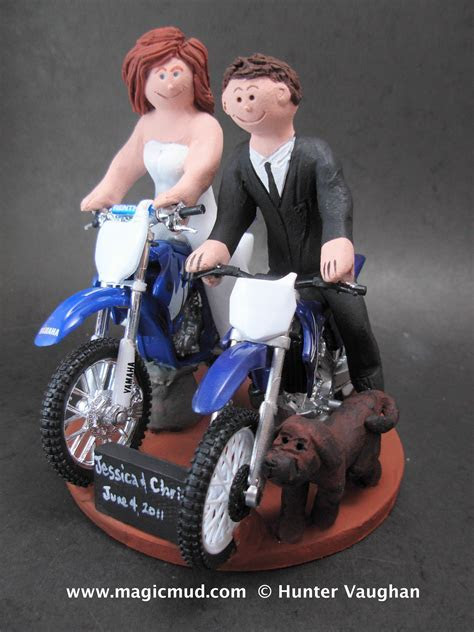 wedding cake toppers: Dirt Bike Wedding Cake Toppers