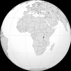 Location of Burundi(dark green)in Africa(grey) – [Legend]