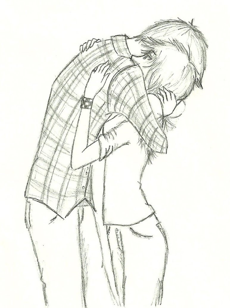 Girl And Boy Hugging Drawing At Getdrawings Com Free For Personal