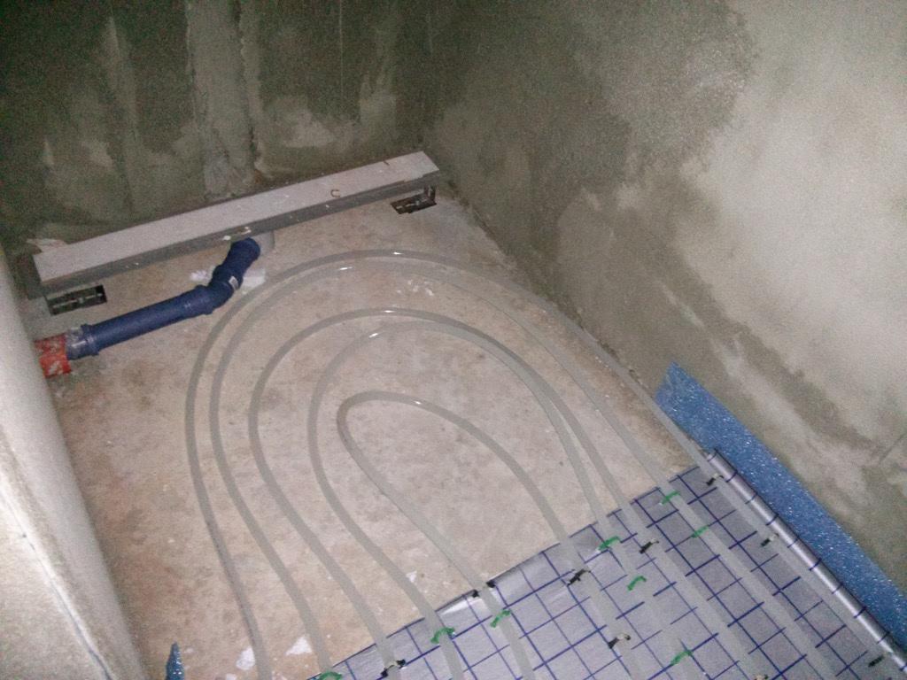 Top Planschbecken wasser frisch halten: Fußbodenheizung dusche estrich PN77