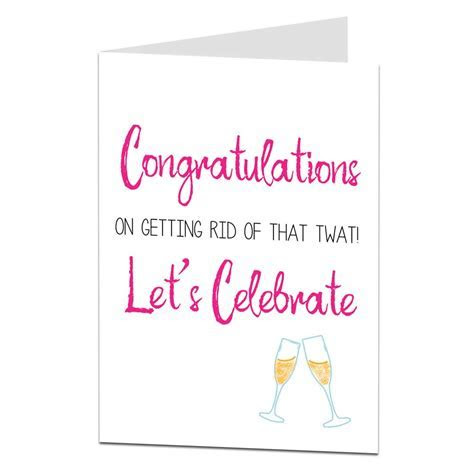 Funny Congratulations On Your Divorce Card