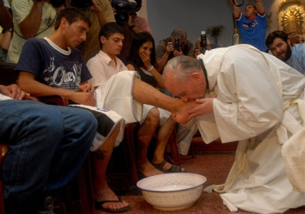 """Cardinal Bergoglio surprised many in 2001 when he washed and kissed the feet of 12 AIDS-related patients at Muñiz Hospital in Buenos Aires, saying """"society forgets the sick and the poor""""."""