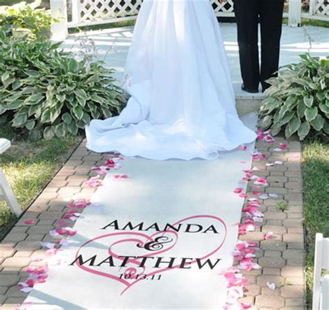 Embracing Hearts Wedding Aisle Runner   Personalized Heart