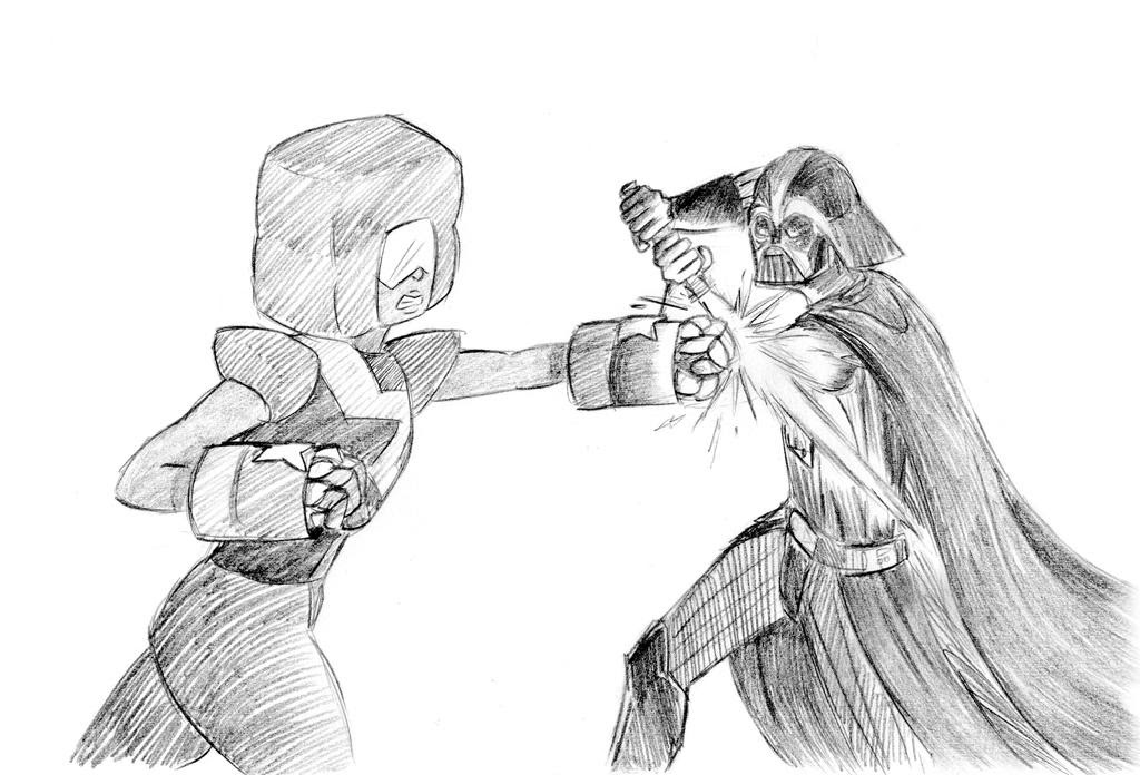 Request by Fanfiction.net user Edgar H. Sutter/DeviantArt user From Star Wars/Steven Universe crossover fanfiction Gem Wars Content shown: Garnet fighting Darth Vader Note: None of the concepts are...