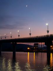 Moon over the Big Dam Bridge
