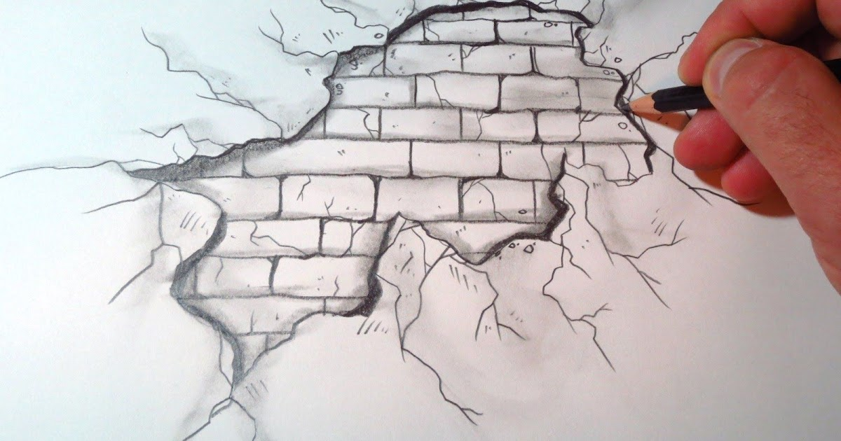 35  Latest Brick Wall Drawing Ideas
