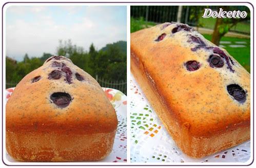 cake mirtilli papavero