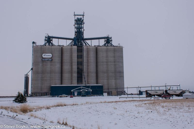 The Viterra Calgary East grain elevator