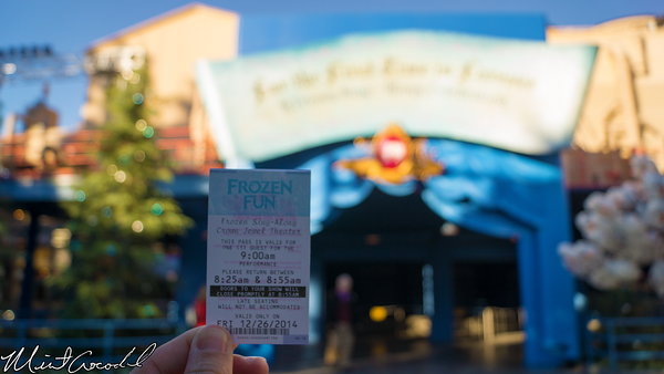 Disneyland Resort, Disney California Adventure, Frozen Fun, Frozen, Hollywood Land, Animation, Building, Muppet Vision 3D, For The First Time In Forever, Sing, Along, Celebration, Crown, Jewel, Theatre, FastPass, Fast, Pass