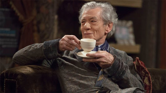 Ian McKellen drinking tea | Tacky Harper's Cryptic Clues