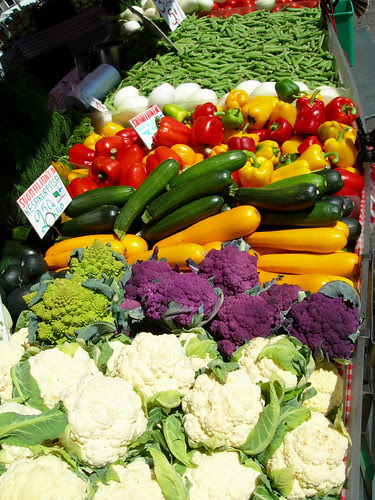 Vegetables in Helsinki's Kauppatori