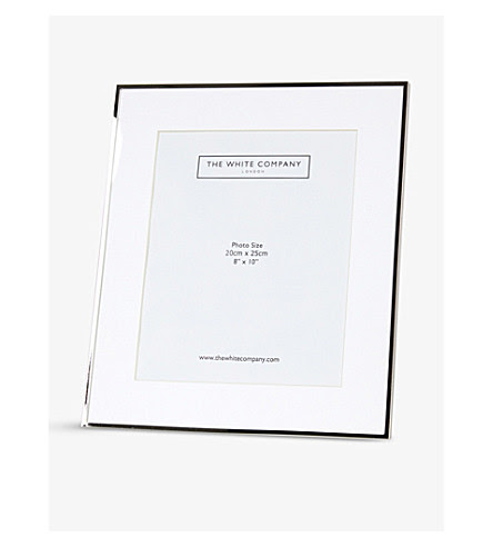 The White Company Fine Sterling Silver Plated Frame 8 X 10