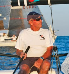 Hans Fogh sailing J/70 off Toronto, ONT in beer can race