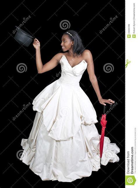 Black Woman In Wedding Dress Stock Image   Image of beauty