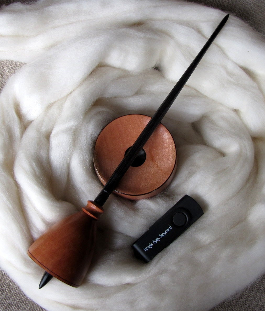 Support spindling starter pack - spindle, bowl, fibre, e-book with instructions MADE TO ORDER