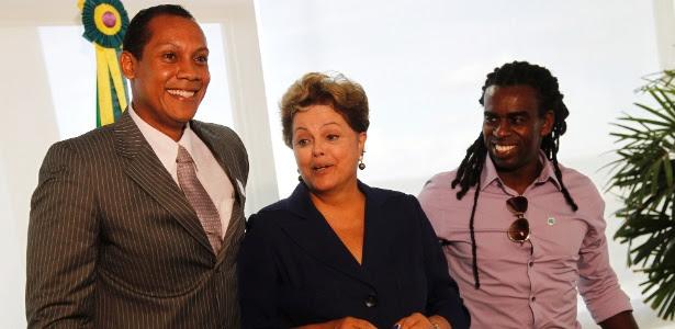 Márcio Chagas (e) se encontrou com Dilma Rousseff, em Brasília, ao mesmo tempo que ocorria julgamento