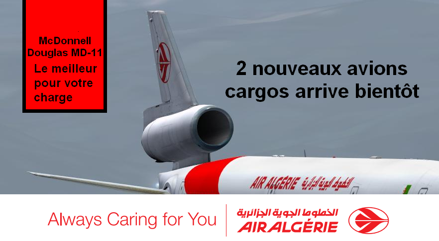 Air Algérie KLM MD11F Freighters Cargo