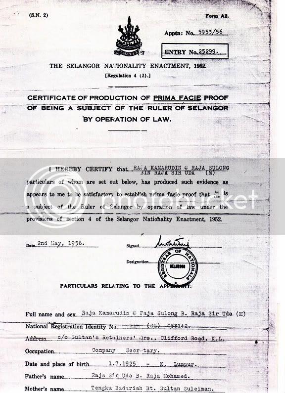 rpk selangor citizenship