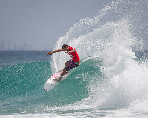 Julian Wilson - 2015 Quiksilver Pro - 2015 Quiksilver Pro and 2015 Roxy Pro, final day; Friday 13 March 2015; Snapper Rocks, Coolangatta, Gold Coast, Qld, AUS. Photos by Des Thureson - http://disci.smugmug.com