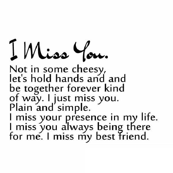 Quotes About Friendship Missing 24 Quotes
