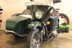 Ural with legs fairings and windshield