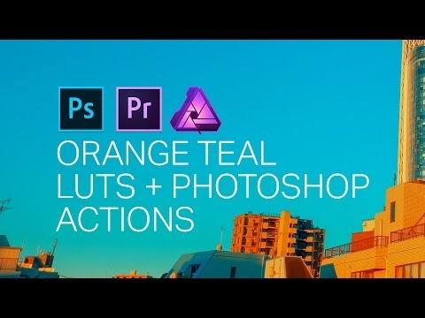 Orange Teal Photoshop Actions + LUTs | Creativemarket 1336771