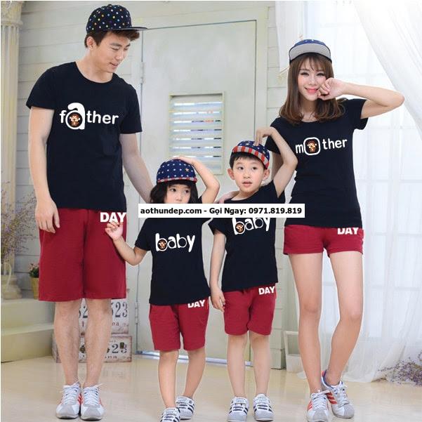 áo đồng phục gia đình 4 người
