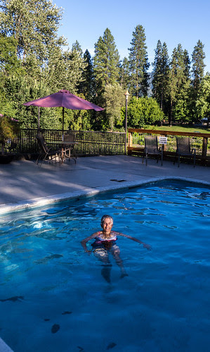 Tricia in pool, Grants Pass, OR