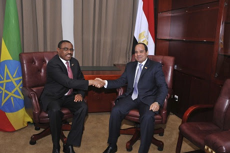 Ethiopian Prime Minister and Egyptian President