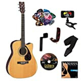 Yamaha FX370C Folk Acoustic -Electric Guitar Bundle w/Legacy Accessory Kit (Tuner, DVD, and Much More)