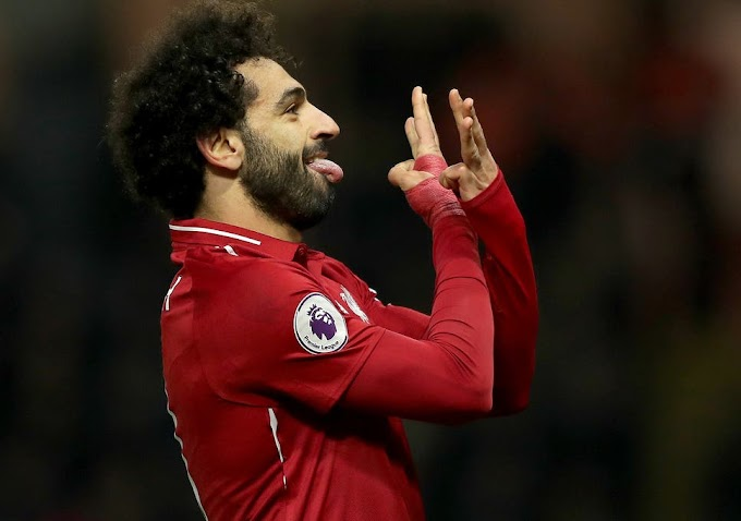 Salah celebrate appering to mock sergio ramos