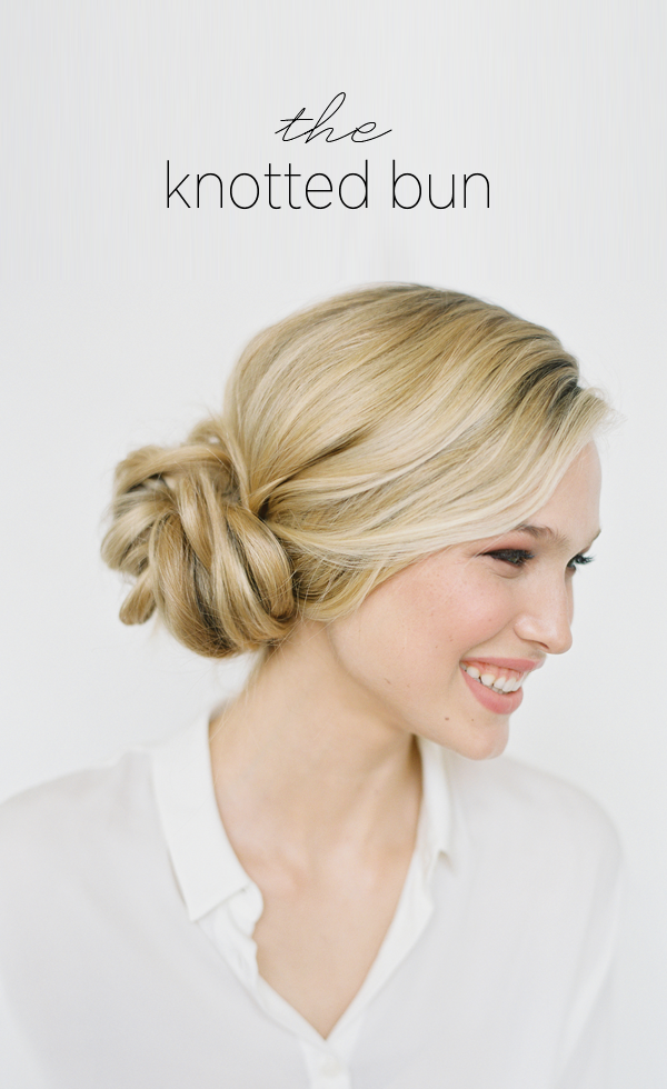 knotted-bun-wedding-hairstyles-for-long-hair