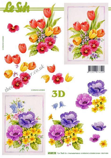 Tulips & Pansy Flowers 3d Decoupage Sheet