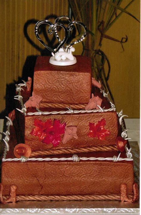 Western Theme Wedding Cake   CakeCentral.com