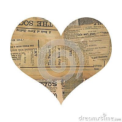 Grungy antikes Zeitungspapier-Collageninneres