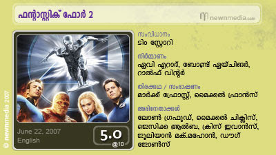Fantastic 4, Four, Rise of the Silver Surfer, English, Movie, Review, Film, Cinema, in Malayalam, June Release, Mr. Fantastic, Invisible Woman, The Thing, The Human Torch