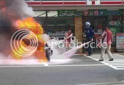 Motor u plamenu na pumpnoj stanici