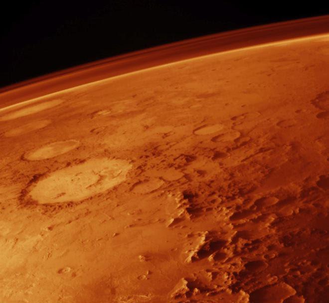 Atmosfera de Marte em foto divulgada pela Nasa: Planeta Vermelho sempre intrigou terráqueos (Divulgação)