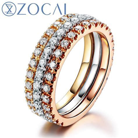 ZOCAI South Africa 0.39 Ct diamond ring of 18K white gold