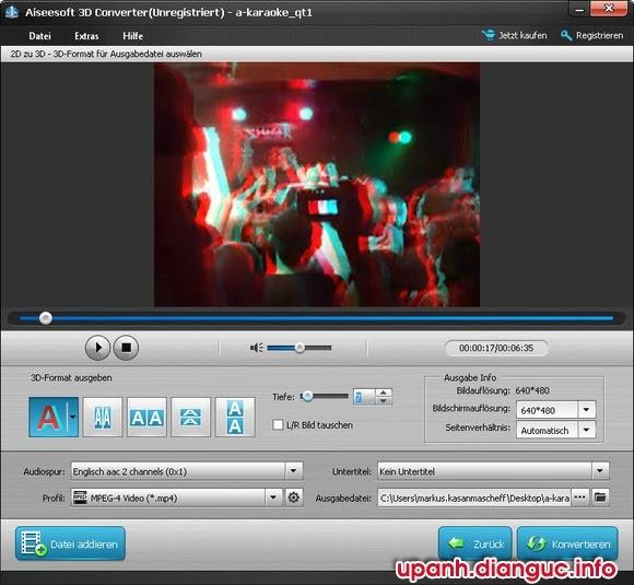 Download Aiseesoft 3D Converter 6.3.76 full crack - Chuyển đổi video 2D sang 3D