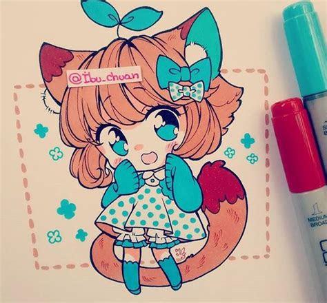 atibuchuan instagram anime art kawaii art copic drawings