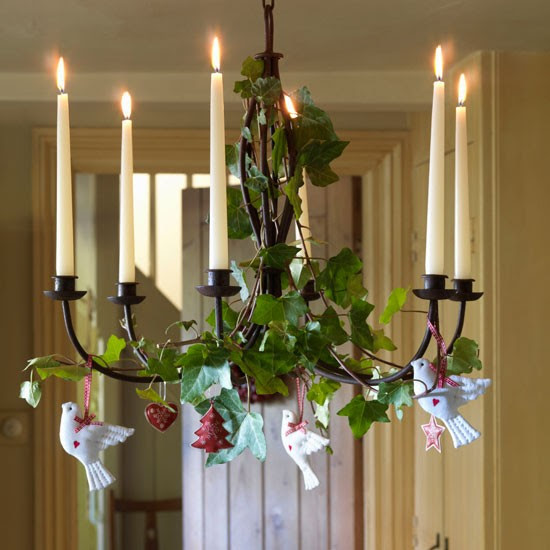 Decorate a candelabra | Hallway | PHOTO GALLERY | Country Homes and Interiors | Housetohome.co.uk