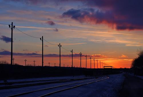 Sunset in Traintrack Village