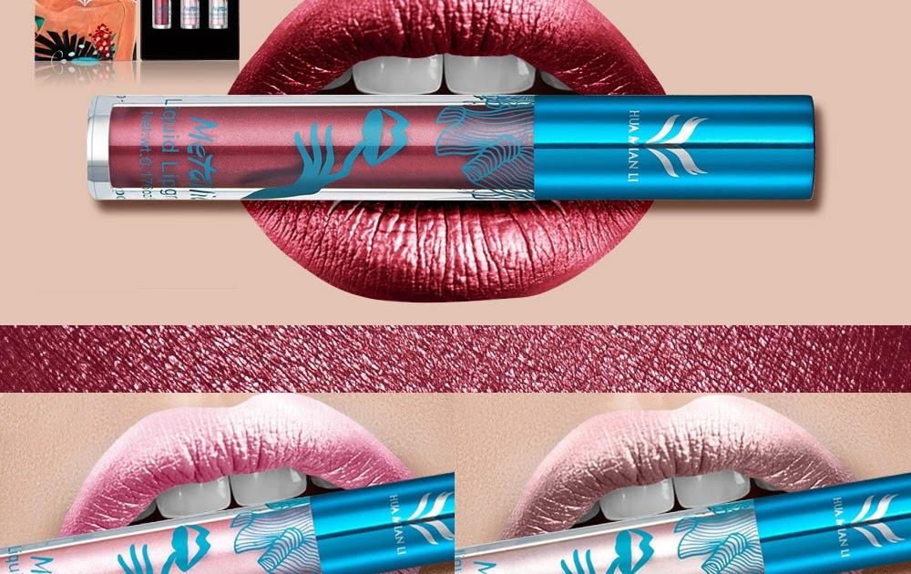 15Color Waterproof Matte Lipstick Metallic Pearl Sex Lip