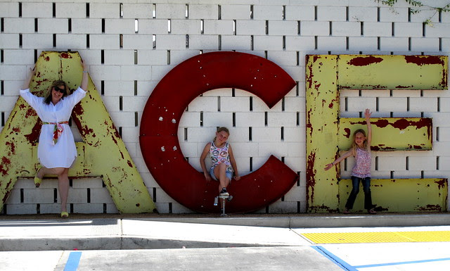 Alice, Caelan and Emma at the Ace Palm Springs