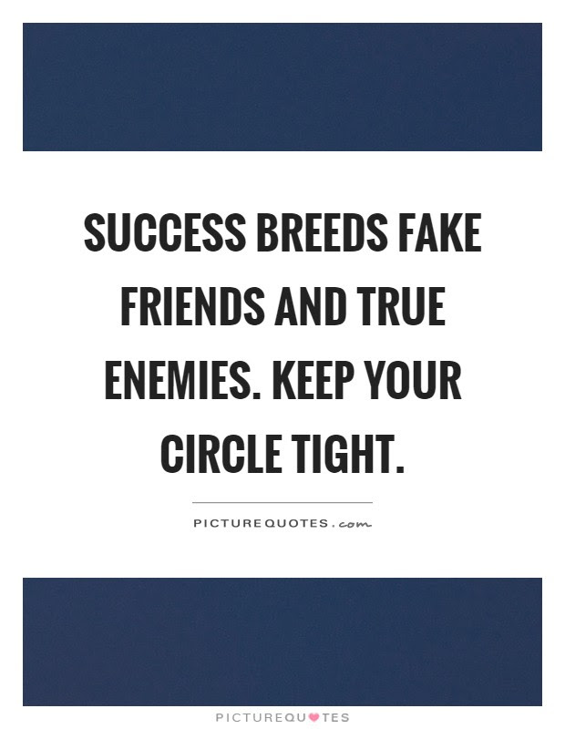 Success Breeds Fake Friends And True Enemies Keep Your Circle