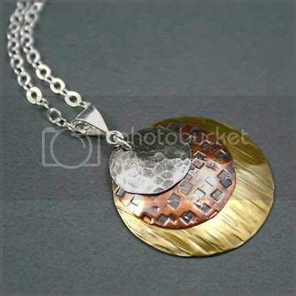 Triple Metal Disc Necklace